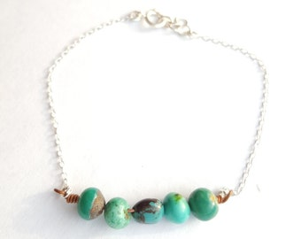 "Bracelet "" turquoise"" in natural stone turquoise"