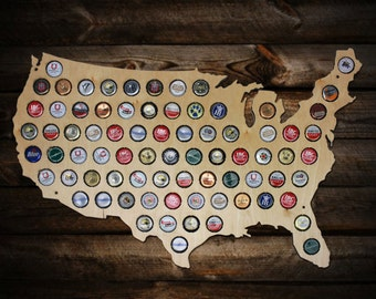 Beer Cap Map - USA Beer Cap Map