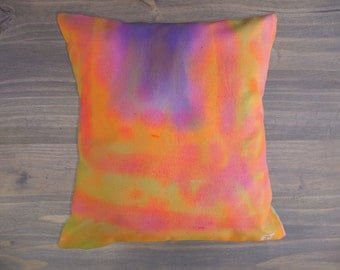 Hand Painted Throw Pillow, Decorative Pillow