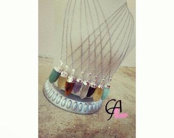 Chain with Semiprecious stones pendants