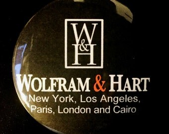 Angel Wofram & Hart Pinback Button