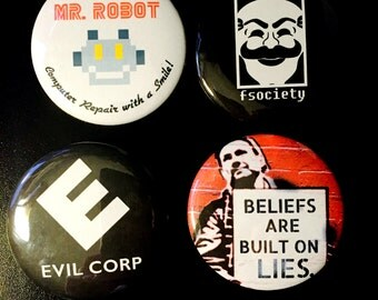 Mr. Robot Set of Pinback Buttons
