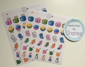 Kawaii Laundry, Clothes, Hoover, Clean and Dust Planner, Penpal and Journalling Stickers HBS0050