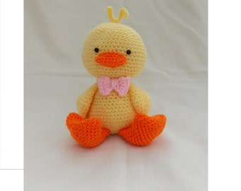 Crochet Duckling, Amigurumi Duckling, crochet duck, chick, new baby gift, soft toy, nursery decoration, READY TO POST in 2-3 days