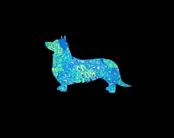 Pembroke Welsh Corgi vinyl dog decal in many patterns and sizes! Decorate your car, laptop or favorite tumbler today!