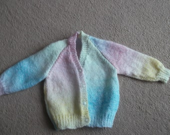 baby cardigan this item can be made in the size and colour of your choice