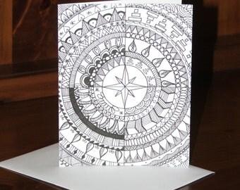 Handmade Mandala-Style Greeting Card #08