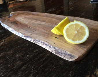 Live edge wood charger.