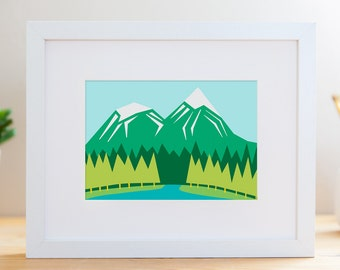 "Summer Mountains // 8x10"" Archival Print"