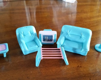 Plastic Play Doll Living Room Furniture