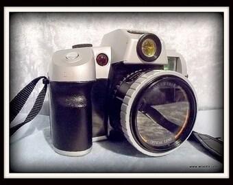 Vintage Canon DL9000 motordrive analog camera.