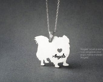 PEKINGESE LONGHAIRED NAME Necklace - Pekingese Longhaired Name Necklace - Personalised Necklace - Dog breed Necklace - Dog Necklace