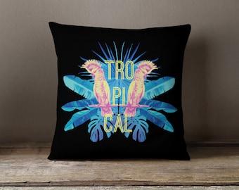 Tropical Pillow | Tropical Pillow Cover | Tropical Decor | Throw Pillow | Decorative Pillow | Cushion | Tropical Bedding |
