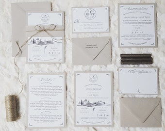 Rustic Wedding Invitation Suite - Kraft & Outdoors
