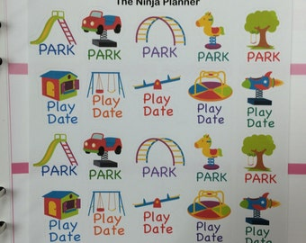 Park and Play Date stickers