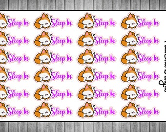 Foxy Sleep-In Planner Stickers