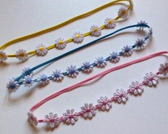 Daisy Flower Elastic Headband