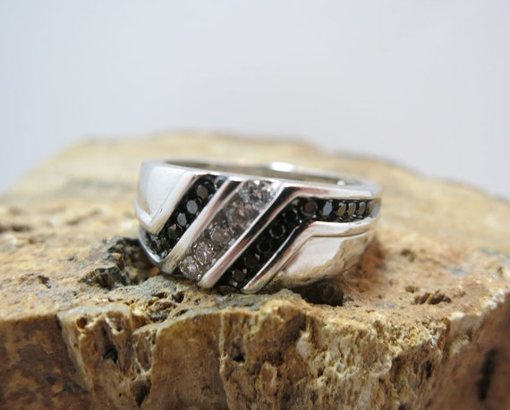 mens wedding band white gold with diamonds