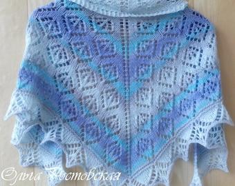 Shawl Knitting PATTERN PDF, Knitted Shawl Pattern, Fall Shawl - Heirloom Cultivar Shawl