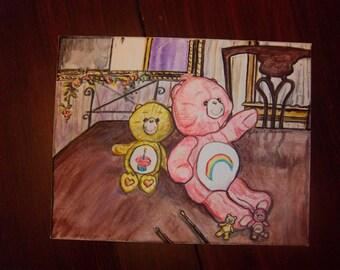 Care Bears painting