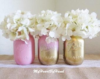 mason jar centerpieces for girl baby shower x3cb x3epink x3c b x3e