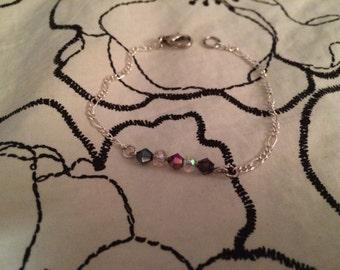 Swarovski Crystal Bead Silver Bracelet