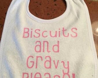 Biscuits and Gravy bib
