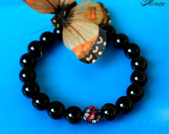 10mm Obsidian Bracelet, Obsidian Bracelet, Black Obsidian Bracelet, Obsidian Jewelry, Black Bead Bracelet, Obsidian Wrist Mala, Obsidian
