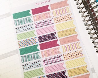 Patterns Banner Flags Planner Stickers