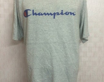 Vintage CHAMPION Heather Grey Blend Cotton Rayon Tshirt