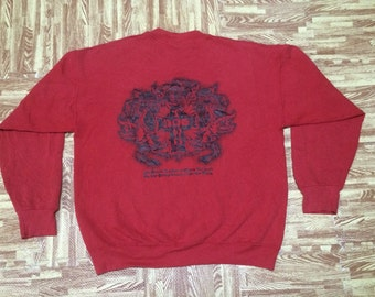 Vintage DOG TOWN Skate Sweatshirt Made in Usa Large Size Polyester Cotton 50/50