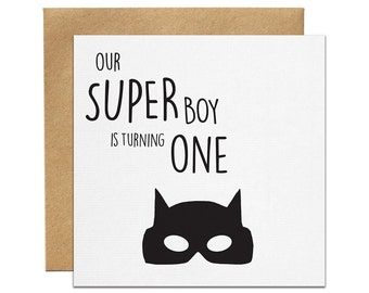 Superboy Printed Birthday Invitation | Made In Australia
