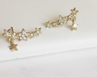 CZ Star Earrings, Simple, Minimalist Earrings