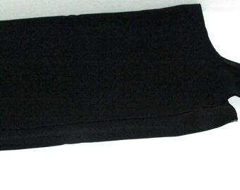 Vintage Black Sarong, Beach Cover Up Skirt, Winter Vacation? Beach Wear, Sheer Black Skirt