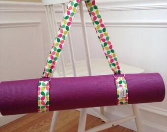 Yoga Strap, Yoga Mat Carrier, Handmade Yoga Sling