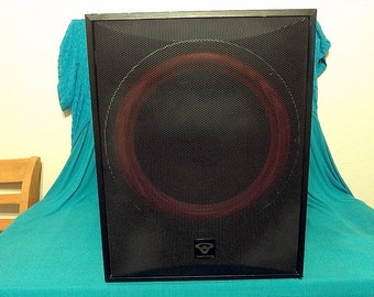 Cerwin-Vega CLSC-12SClassic Series 12-Inch 250-Watt Powered Subwoofer, Black Ash