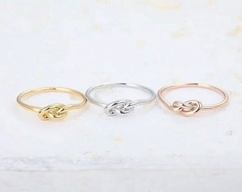 Dainty Knot Ring, Dainty Jewelry, Minimalist Ring, Everyday Ring, Simple Ring, Fine Jewelry, Woman Jewelry, Tiny Ring, Midi Ring