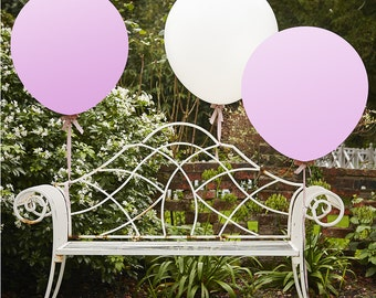 White & Pink 36 Inch Feature Balloons- Vintage Affair