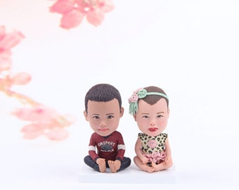 Personalized Baby gift  - Birth Announcement Bobblehead - Bobblehead Baby Gift - Birth Gift for Newborn - Baby Photo bobblehead