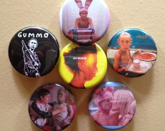 """Gummo set of 6 pin back buttons 1.25"""""""