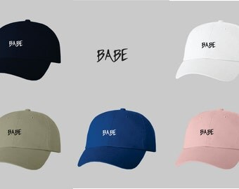 Dad Hat Baseball Cap Embroidered BABE