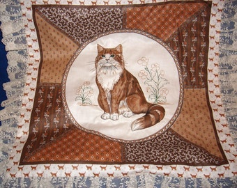 Brown Cat Pillow Top