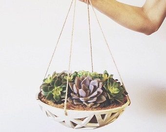READY TO SHIP - Structured Hanging Planter