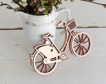 Damen Fahrrad - 3D Holzmotiv