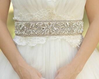 Wedding dress belt, Wedding belt, Bridal sash belt, Lace wedding, Rhinestone Wedding, Luxury wedding, Crystal wedding, Vintage wedding