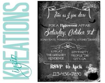 Halloween invitation #2 - Scary Halloween invite