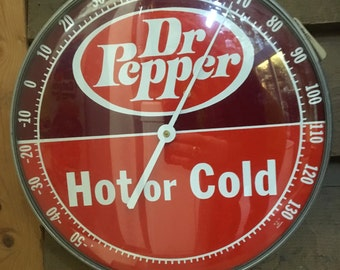 1960's Dr. Pepper Thermometer Hot or Cold ~Excellent Condition and Very Collectible