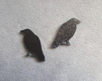 Raven Resin Charm