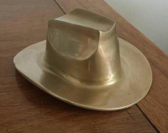 Brass Cowboy Hat Mid Century