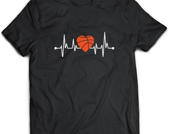 Basketball T-Shirt. Perfect Gift for Your Dad, Mom, Boyfriend, Girlfriend, or Friend - Proudly Made in the USA! Basketball gift